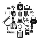 Bag icons set, simple style. Bag icons set. Simple set of 25 bag icons for web isolated on white backgroundr vector illustration