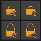Bag icons set Royalty Free Stock Photos