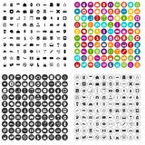 100 bag icons set vector variant. 100 bag icons set vector in 4 variant for any web design isolated on white stock illustration