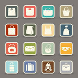 Bag icons vector Royalty Free Stock Images