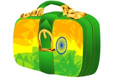 Bag with india flag Stock Photos