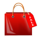 Bag with inscription sale Royalty Free Stock Images