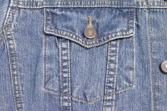 The bag of Jean jacket. The bag of Jean jacket for background Royalty Free Stock Photo