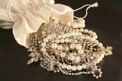 Bag of jewels Stock Photos