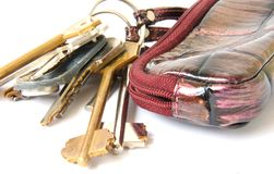 Bag with keys Stock Images