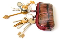 Bag with keys Royalty Free Stock Image