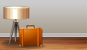 Bag and lamp Royalty Free Stock Image