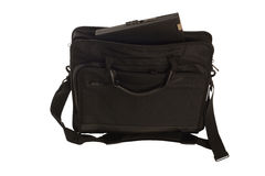 Bag with laptop Royalty Free Stock Images
