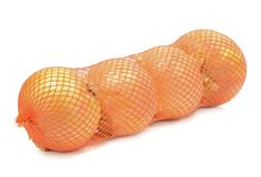 A Bag of Large Onions royalty free stock photos