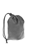 Bag, leather black pouch i Stock Photo