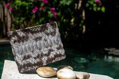 Python piton snake fashionable handbag, clutch.Python accessories. bag, wallet leather Python, women`s, man s handbag, bag snake stock photos