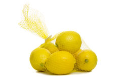 Bag of lemons Stock Photos