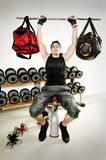 Bag lifting on gym Stock Photography
