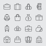 Bag line icon Stock Photos