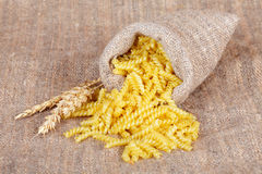 Bag with macaroni Stock Image