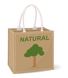 Bag made of jute Stock Photography