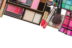Bag with make up products Stock Photography