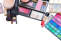 Bag with make up products Royalty Free Stock Images