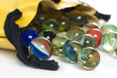 Bag of Marbles Stock Photography