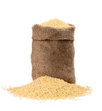 Bag millet Stock Photo