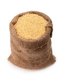 Bag  millet Royalty Free Stock Photos