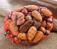 Bag of Mixed Nuts  Stock Photos