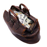 Bag with money. Stock Photography