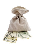Bag and money. Stock Image