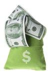 Bag of Money. On White Background royalty free stock photo