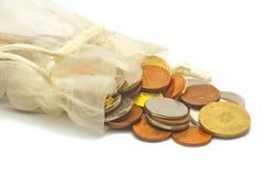 Bag with money Stock Photos