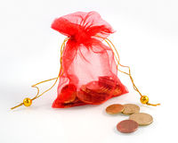 Bag with money Stock Photography