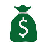 Bag with money, business icon Stock Photo
