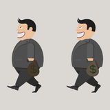 Bag of money. businessman Royalty Free Stock Images