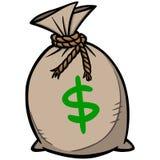 Bag Of Money Stock Photography