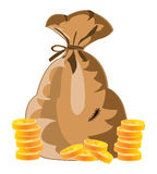 Bag with money Royalty Free Stock Image