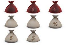 Bag money Stock Image