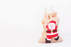 Bag of money with the image of St. Nicholas Royalty Free Stock Image
