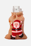 Bag of money with the image of St. Nicholas Stock Images