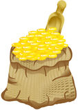Bag and money Royalty Free Stock Photos