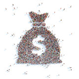 Bag with money. Stock Image
