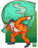 A bag of money. Stock Photo