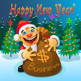 The bag of money in the new year Stock Photo