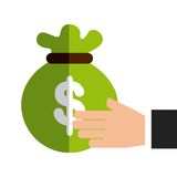Bag money protection isolated icon design. Illustration  graphic Royalty Free Stock Images