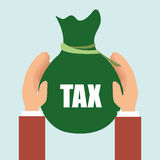 Bag money tax. Illustration eps 10 Royalty Free Stock Image