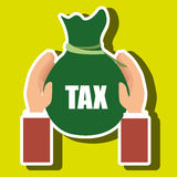 Bag money tax Stock Images