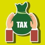Bag money tax. Illustration eps 10 Stock Images