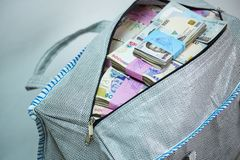 Bag of Naira note Cash and local currencies stock images