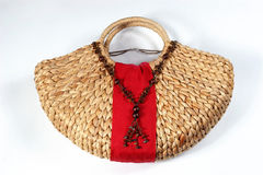 Bag with necklace Royalty Free Stock Photography