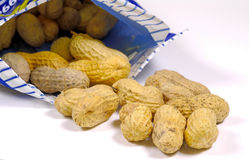 Bag of Nuts. Photo of a Bag of Nuts Royalty Free Stock Image