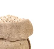 Bag with oat cereal. Stock Image